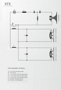 "Kolumna estradowa 2x 15"" + 1x 1,7"" STX. Zwrotnica, litraż, projekt"