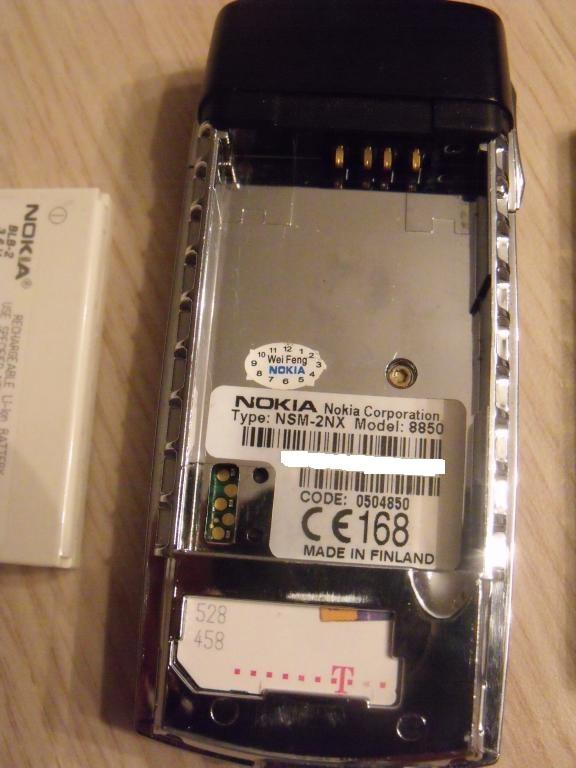 Nokia 8850 - Stwierdzenie oryginalno�ci - Nokia 8850