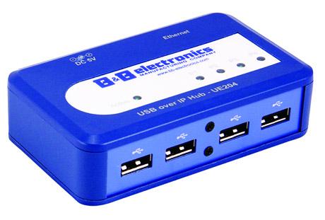 UE204 - przemys�owy HUB USB poprzez Ethernet