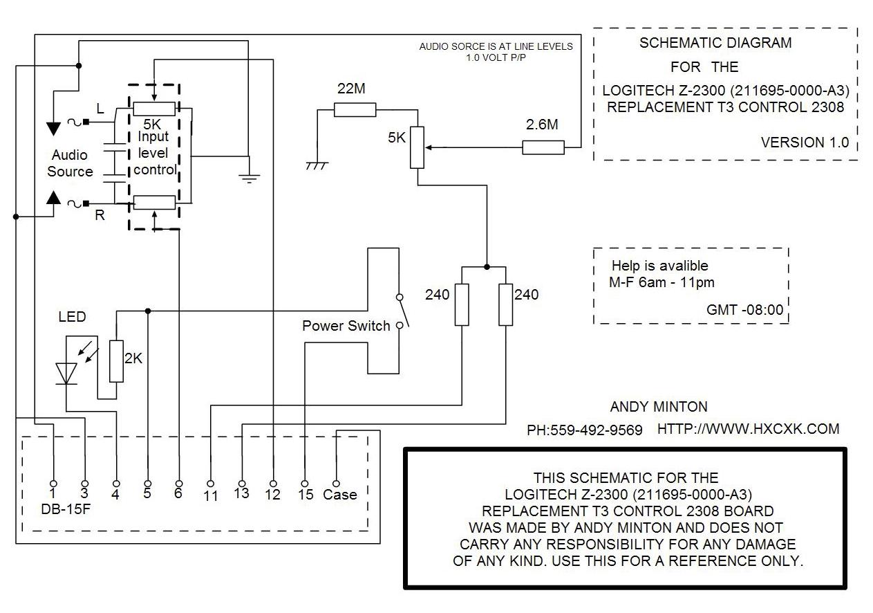 Logitech Subwoofer Wiring Diagram Dual 2 Ohm