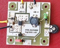 Lampka rowerowa 1W [MAX16822] - zasilanie do 60V