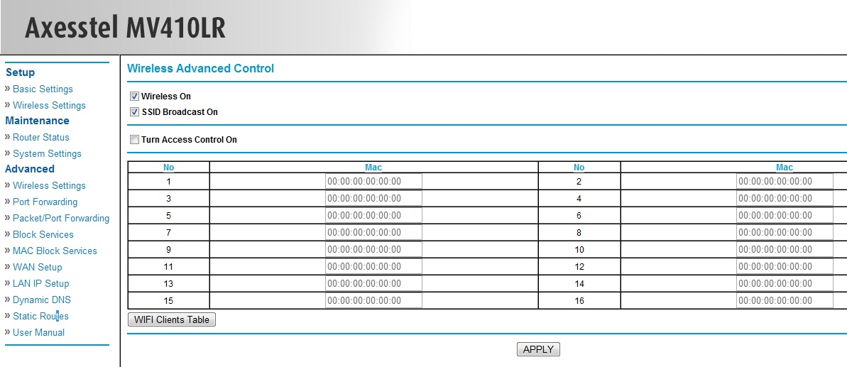 Router Axesstel MV410 szukam nowszego oprogramowania
