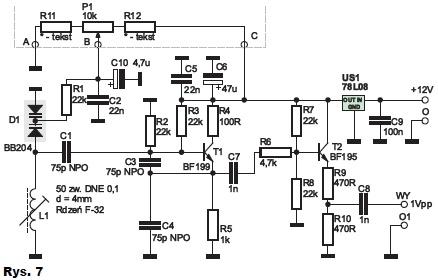 Uruchomienie generatora 6,5MHz