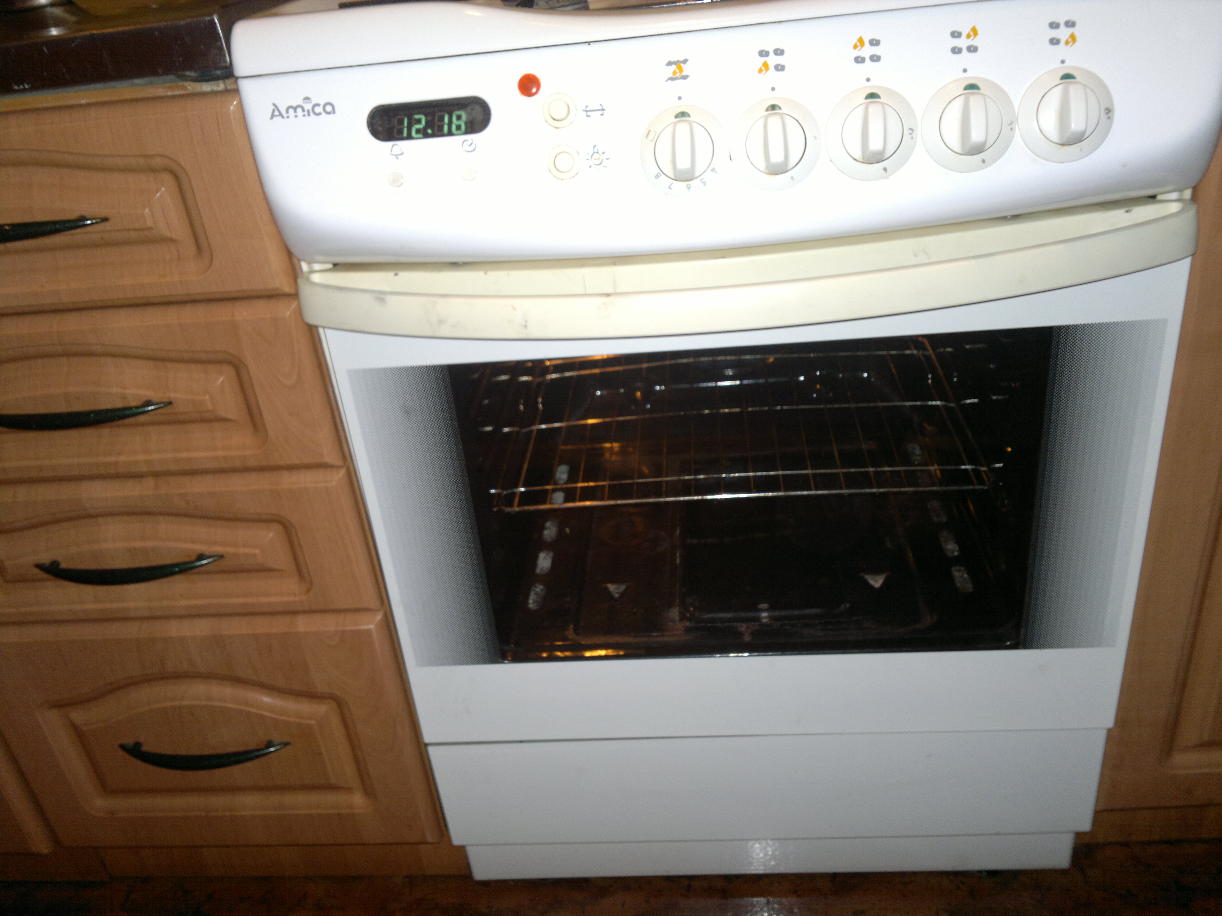 Amica  kuchnia gazowa zakładanie drzwi piekarnika -> Kuchnia Amica Drzwi