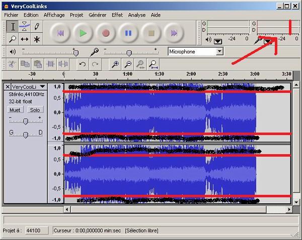Audacity - obcina �cie�k� powy�ej 12dB przy nagrywaniu