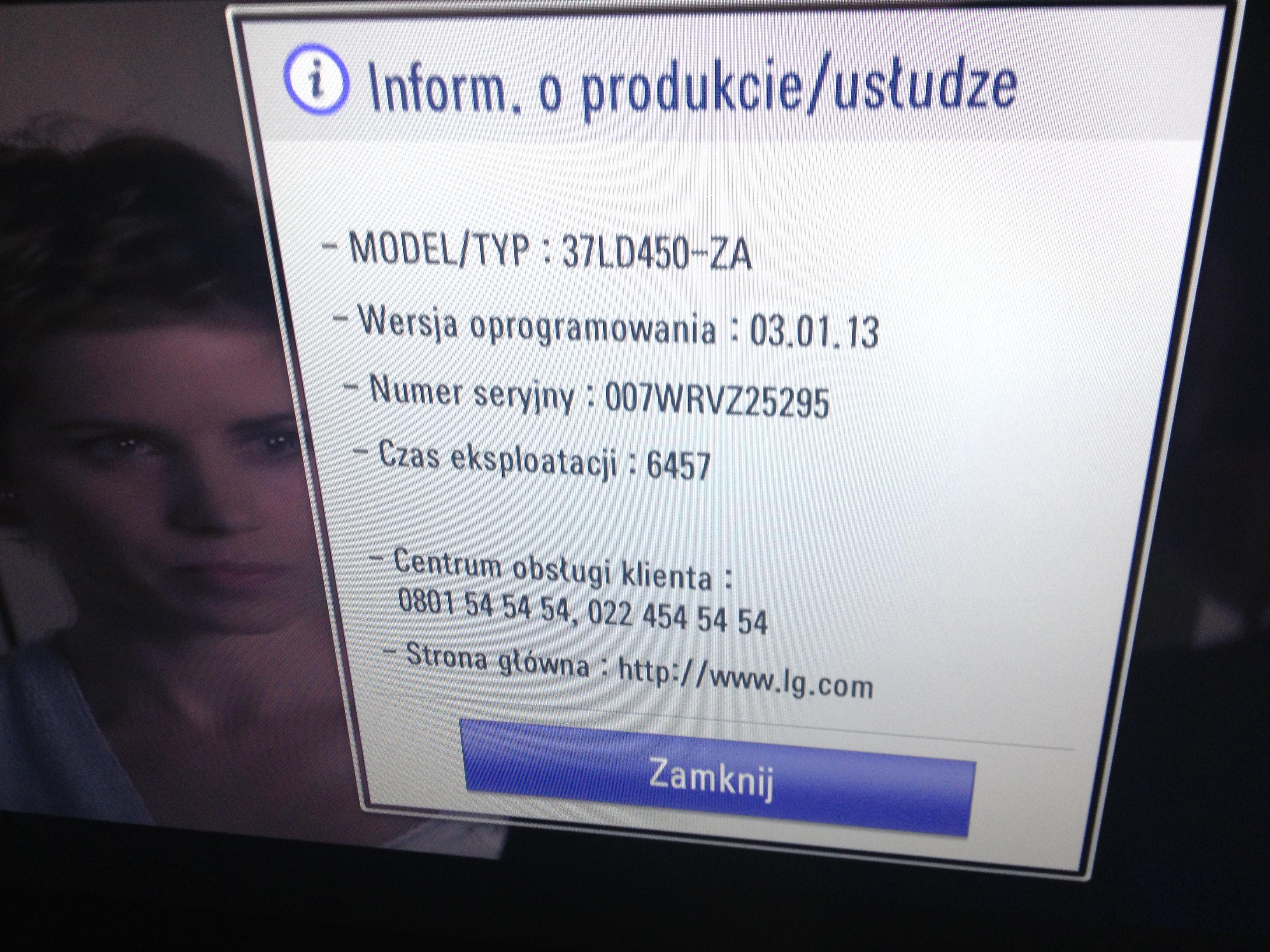 TV LG 37LD450-ZA Kilka pyta�