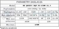 BeQuiet! p5-470W - Piszczące cewki lub kondensatory.