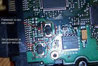 Seagate 120GB;poszły diody po odwrotnym podłączeniu molexa !
