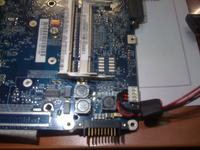 Toshiba Satellite A200-130 - mrugająca dioda