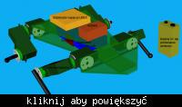 LittleFrog - robot kroczący z systemem stabilizacji