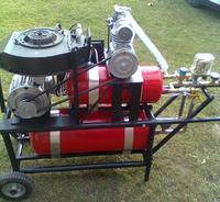 Kompresor ze sprężarki Ursus C-330 konstrukcja własna