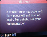 Epson PX830FWD - A printer error has occurred.