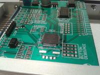 Kontroler/monitor temperatury do pieca gastronomicznego.