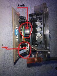 Fiat Seicento - Seicento, where is the speedometer sensor pulse?