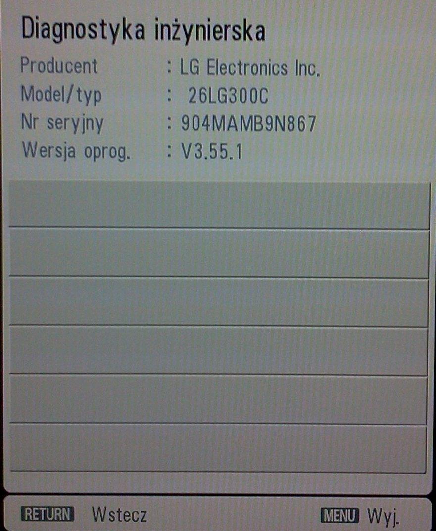 26LG300C - Uszkodzenie po wgraniu firmware - usuni�cia Serwis HD