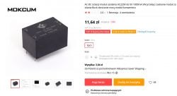 Przetwornica 230VAC/5VDC 5W do montażu na PCB - test