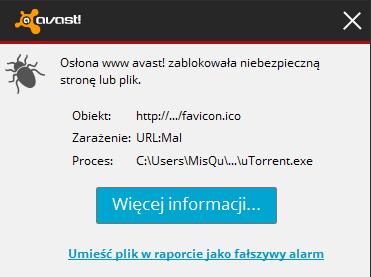 Avast - Komunikat i zara�eniu URL: Mal przy logowaniu