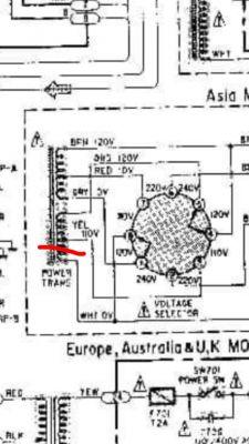 Naprawa Denon PMA-520: uszkodzony transformator