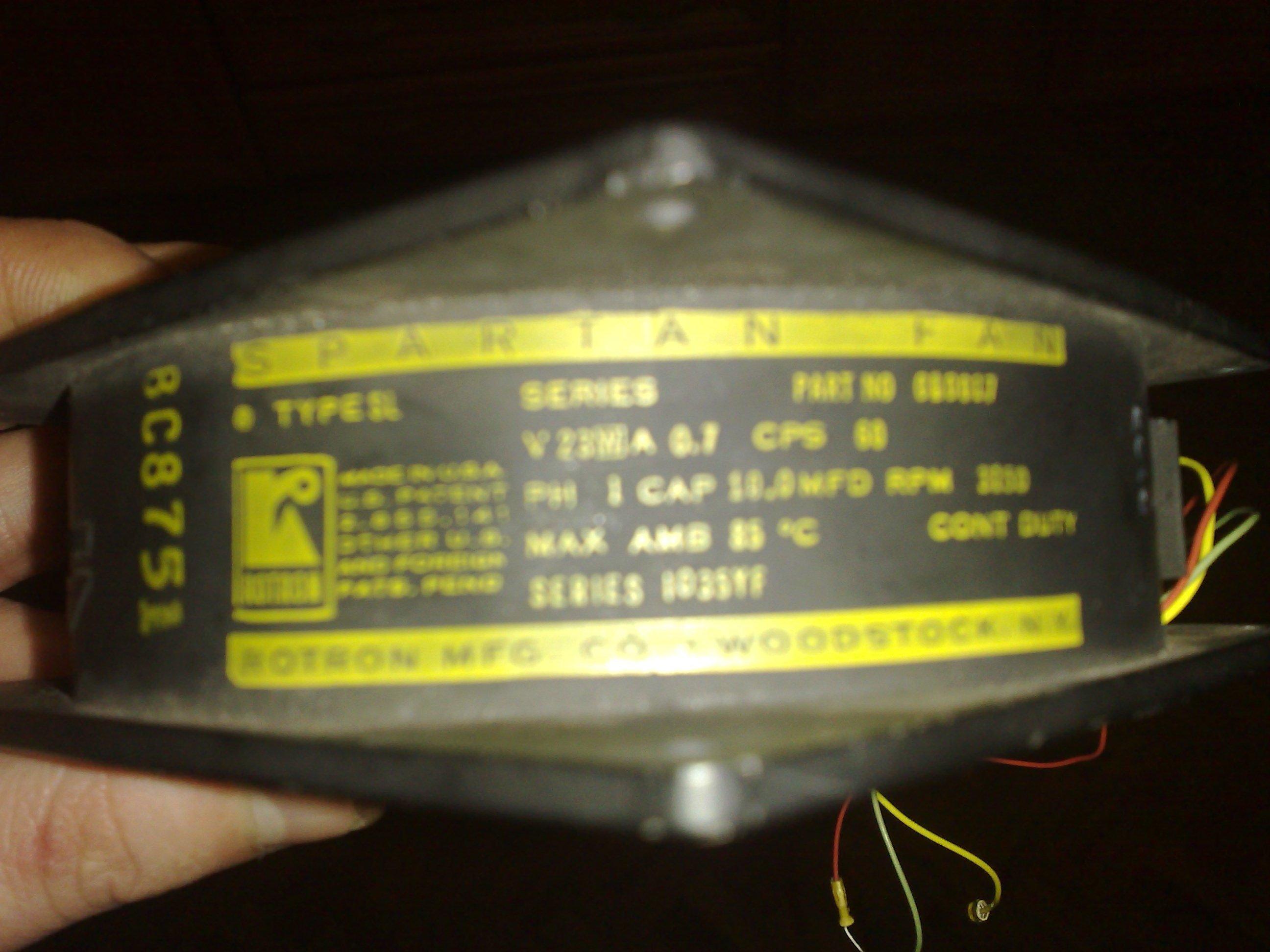 Jak pod��czy� wentylator z USA Rotron 1035YF do migomatu?