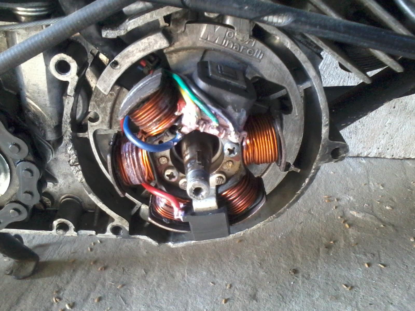 DE w simsonie - Podlaczenie ladowania zaplonu Ducati w Simsonie