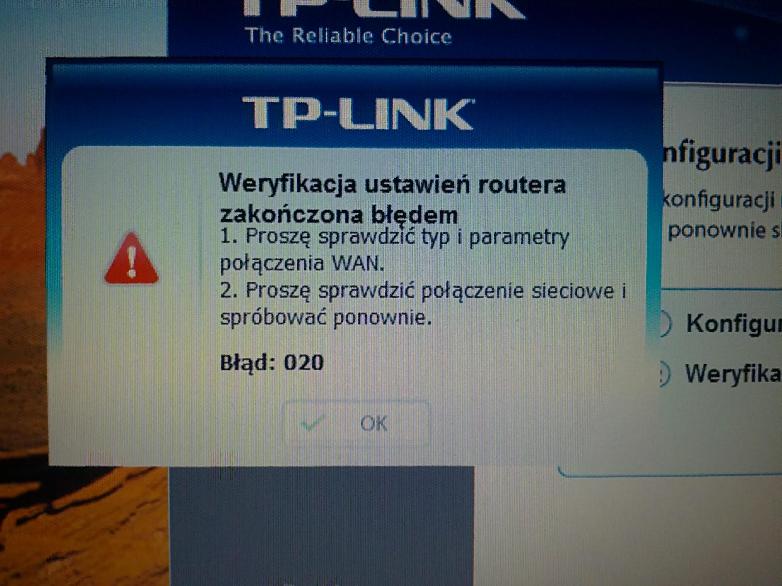 TP-LINK TD-W8951ND - Nie mog� skonfiugurowa�.