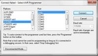 EVB 4.3 - AVR Studio 4.18 programator