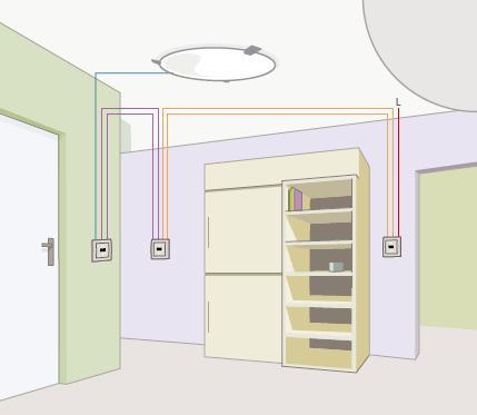 W��cznik schodowy - jak pod��czy� 4 w��czniki w jeden obw�d