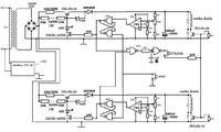 schemat układu ładującego kondensatory do określonej wartości