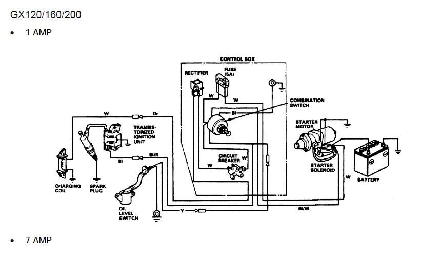 Silnik Honda gx120/gx160 podl�czenie oswietlenia.