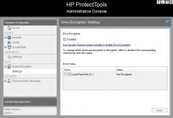 HP Probook 4530 - Protect tools encryption drive.