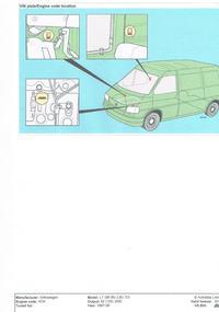 VOLKSWAGEN LT46 2.8TDI - gdzie znajde miejsce nabicia numeru nadwozia w VW LT46?