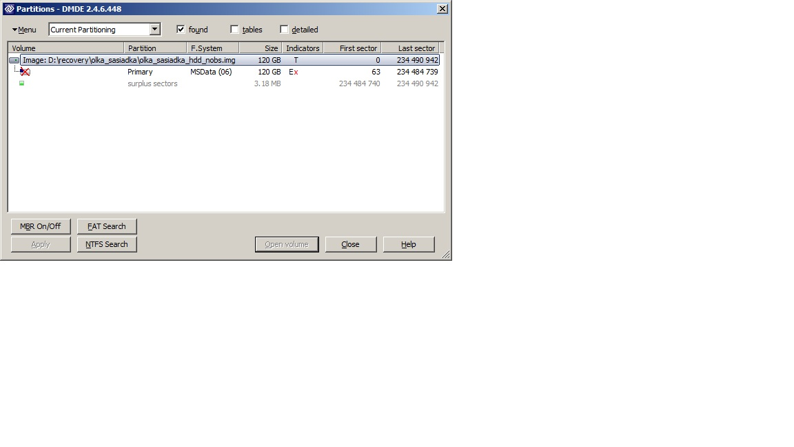 SAMSUNG SP1203N - Odzyskanie danych z uszkodzonego systemu plik�w.