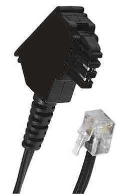 Kabel z drukarki do faxu. Moze byc kabel telefoniczny?