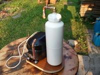 Kompresorek do malowania z lodówki