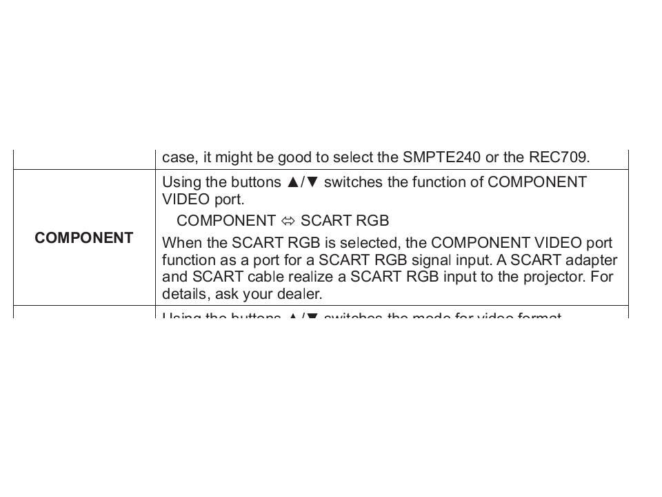 Hitachi CP-X345 - Pod��czenie dekodera kablem Scart RGB