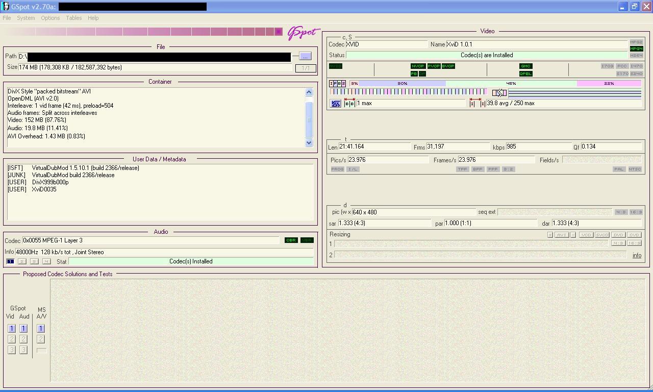 LG VC9700 Zacinanie si� filmu