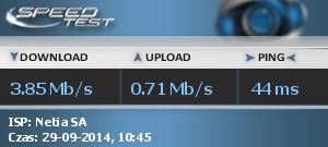 Netia - Niska pr�dko�� internetu (od jakiego� czasu).