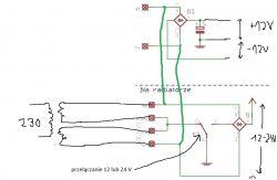 Symetryczne zasilanie - przełączanie uzwojeń trafa