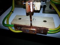 Zgrzewarka z transformatora od mikrofalówki nie zgrzewa drutów ze sobą