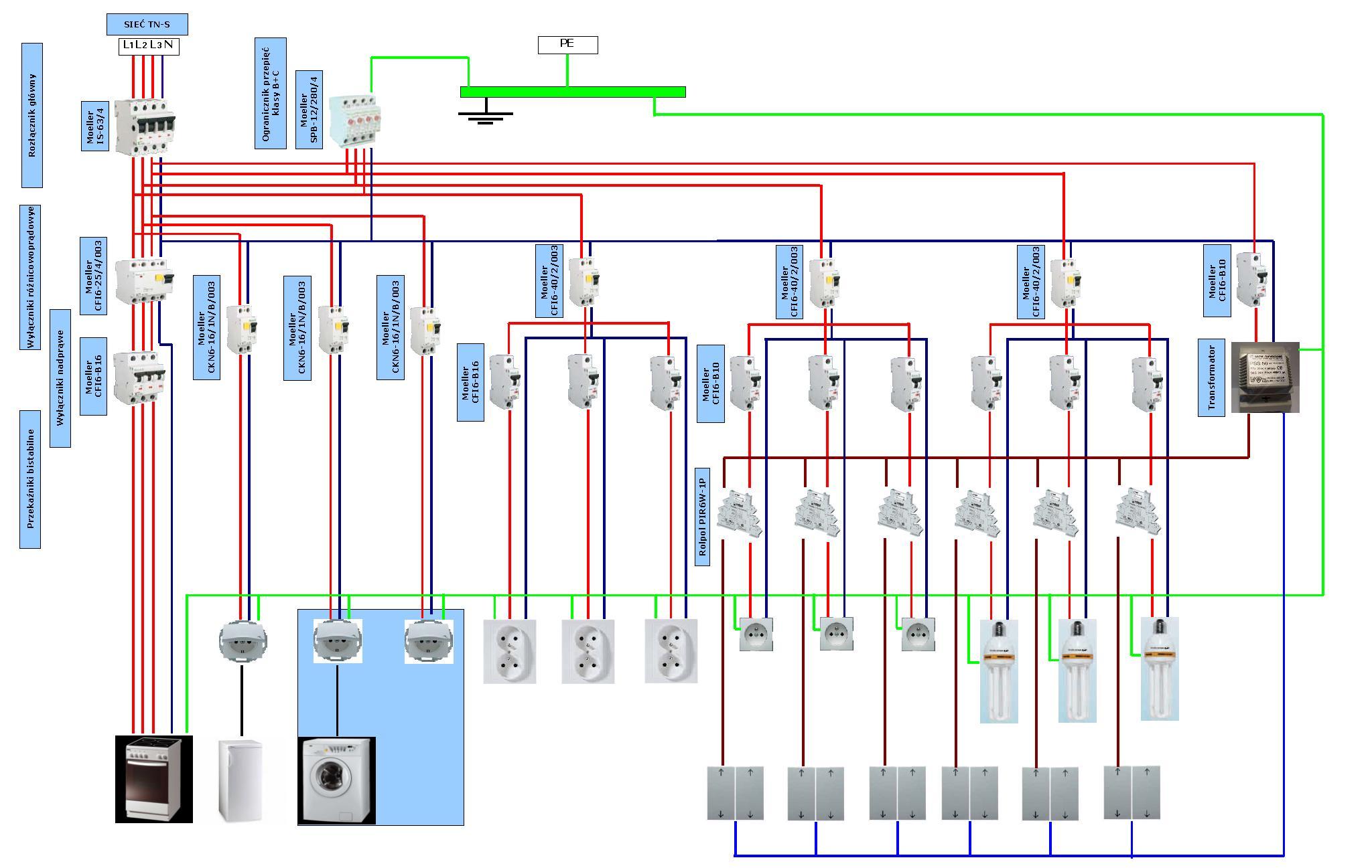 Schemat Instalacji Elektrycznej Domu Jednorodzinnego