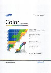 Samsung CLP-510 // Trzy linie w 4 kolorach na wydruki Błąd