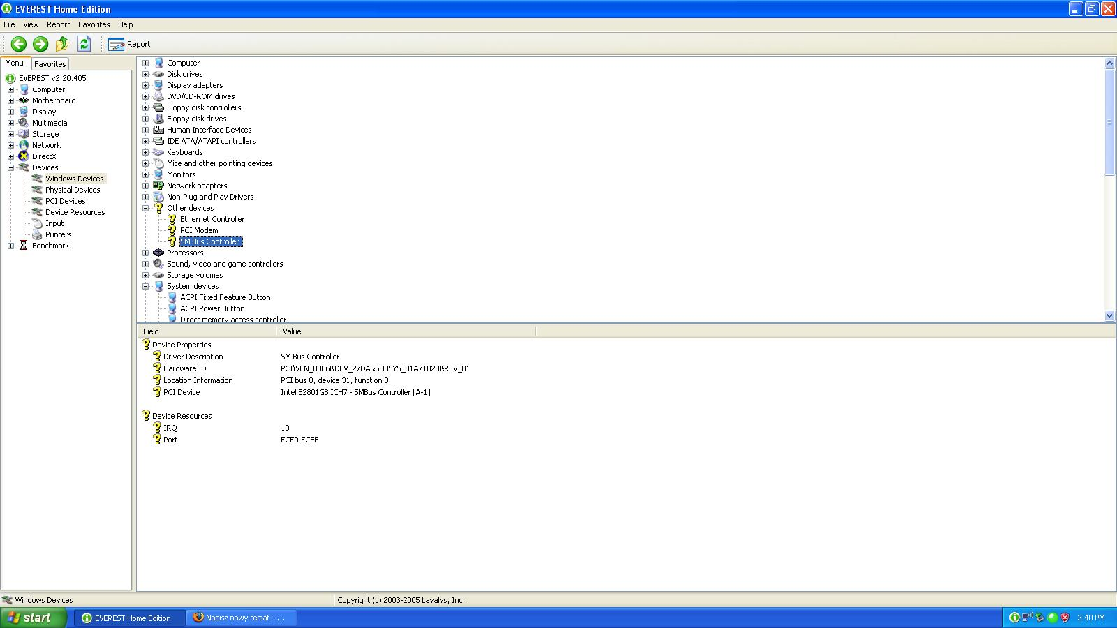 Solved SM Bus Controller driver - Page 2 - Dell Community
