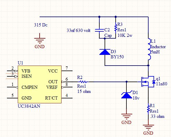 how can protect mosfet switch in flyback as switch