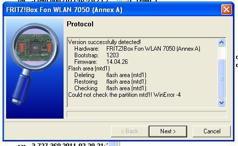 Fritz Box fon WLAN 7050 Annex A Jak wgrać Firmware 14.04.26