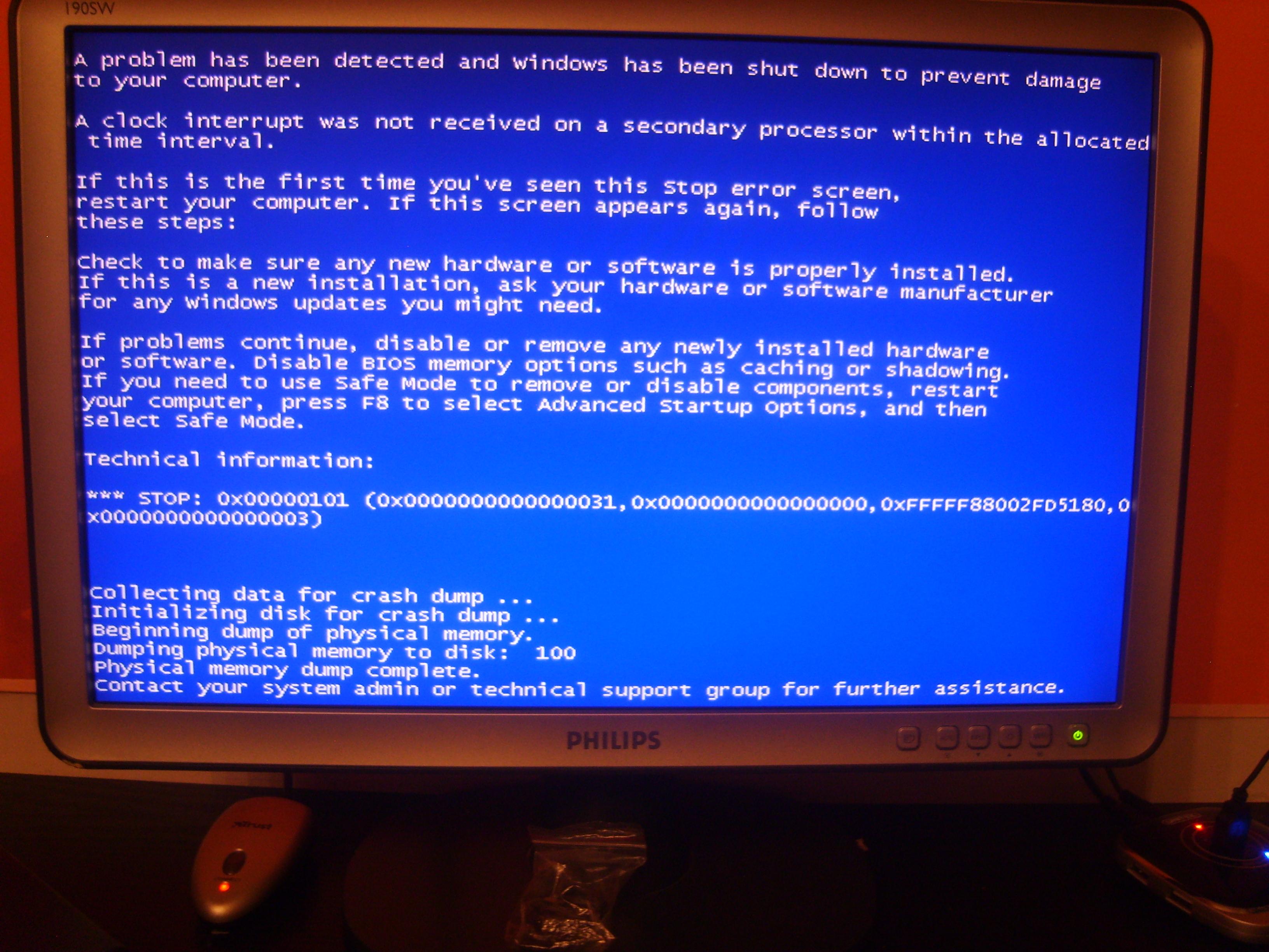 Nowy komputer Blue SCREEN oraz ocena sprz�tu