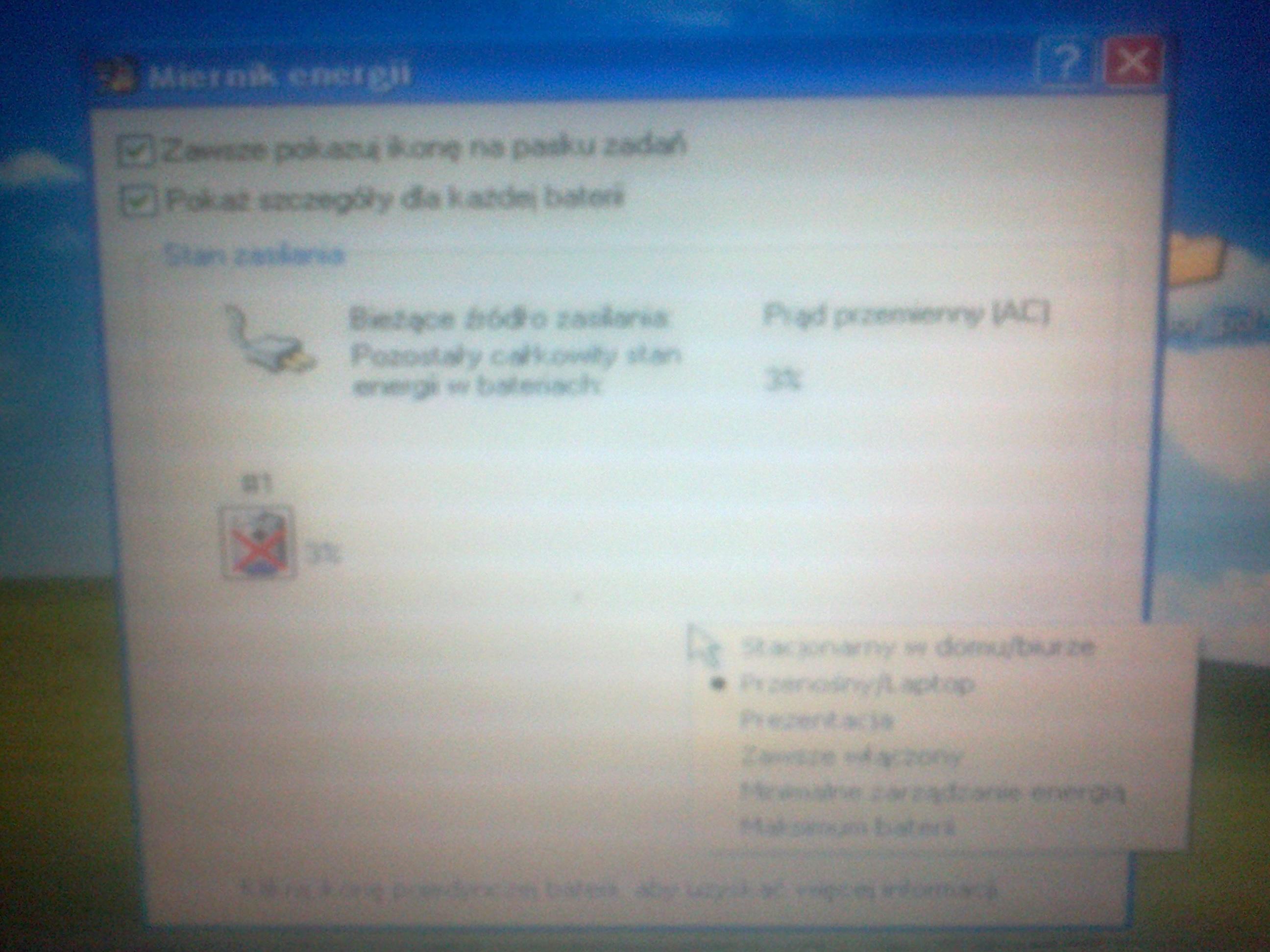 Dell Latitude D430 - nie rozpoznaje zasilacza, nie �aduje.