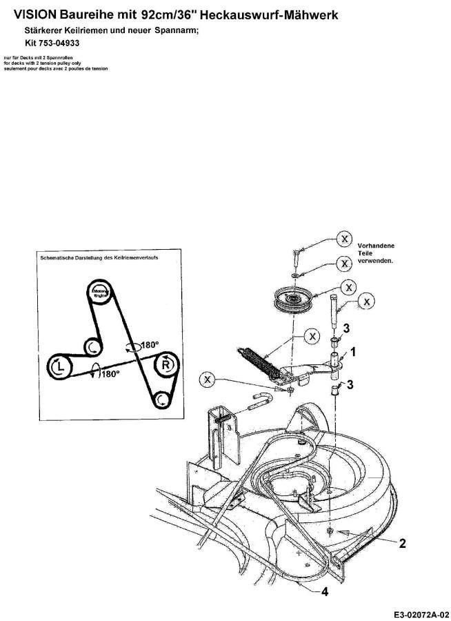traktorek mtd spider 91 schemat za u0142o u017cenia paska no u017cy