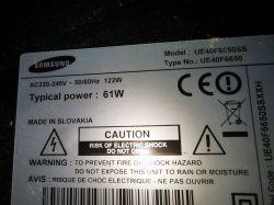 Samsung UE40F6650SS - Dziwne kreski poziome i lekko zaciemniony dół ekranu