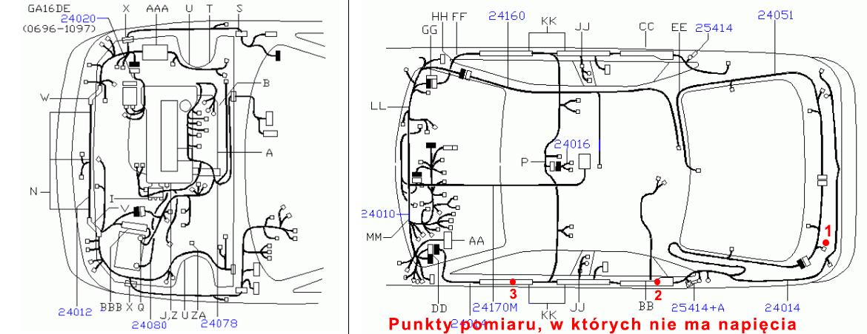 Nissan Primera P11 HB - Brak �wiate� cofania