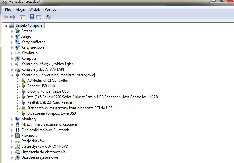 Asus x53S - K�opoty ze sterownikami kontrolera USB